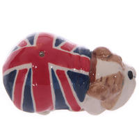 British Bulldog Ceramic Salt & Pepper Pots Thumbnail 2