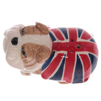 British Bulldog Ceramic Salt & Pepper Pots Thumbnail 3