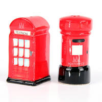 Telephone Box & Post Box Ceramic Salt & Pepper Pots