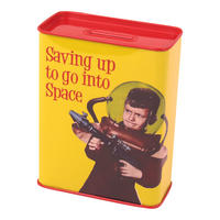 Saving Up To Go Into Space Money Box