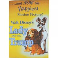 Lady And The Tramp Classic Film Poster Paperback Notebook Thumbnail 1