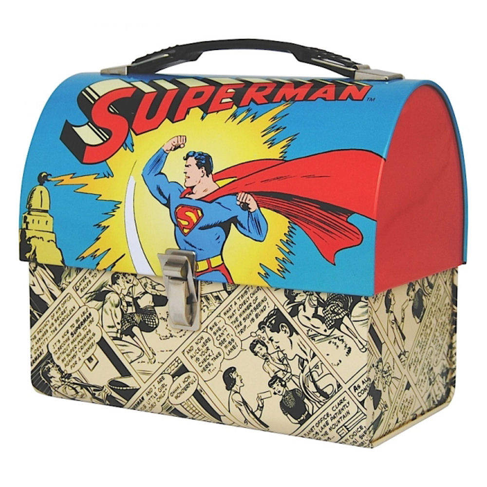 Superman Domed Tin Tote