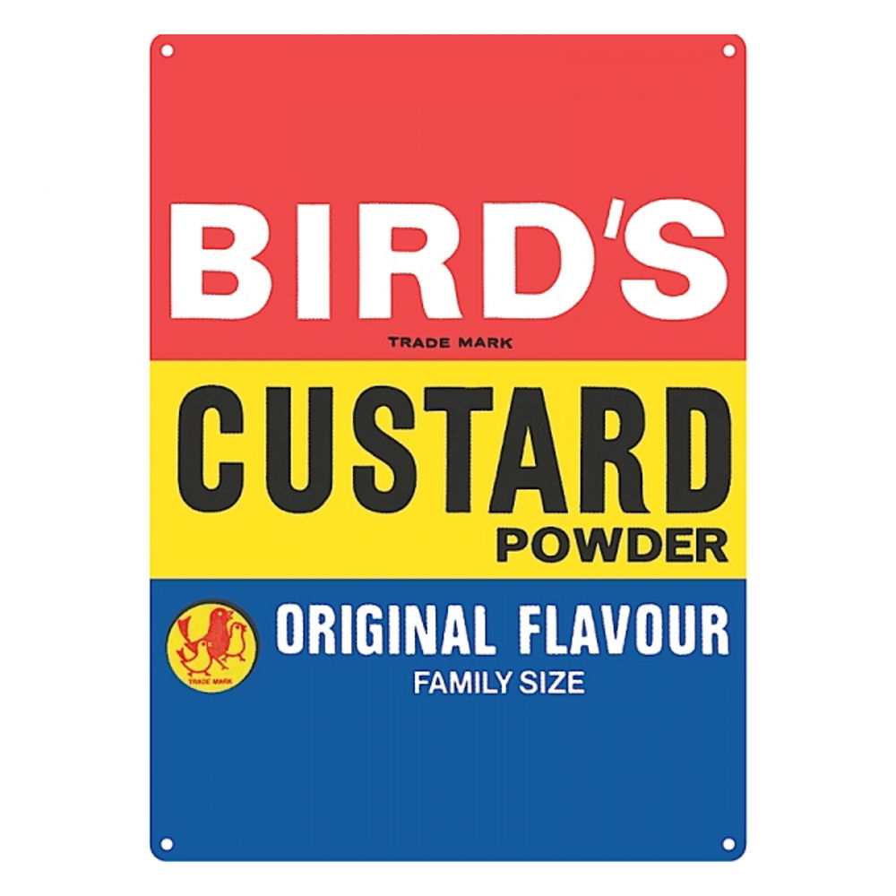 Bird's Custard Large Steel Sign