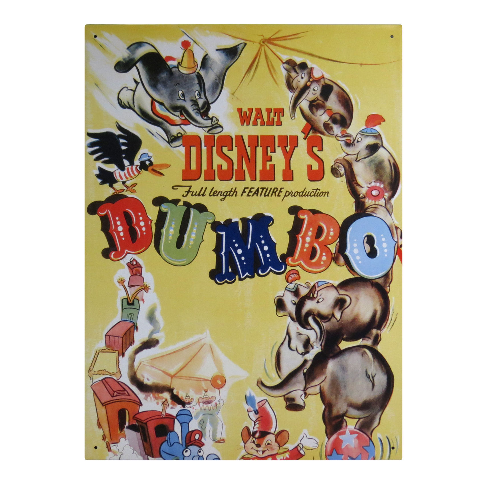 Dumbo Disney Classic Film Poster Large Steel Sign