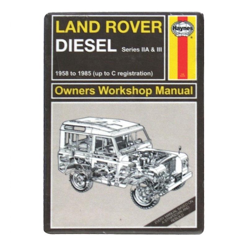 haynes manual land rover fridge magnet retro vintage gift man rh ebay co uk land rover defender workshop manual puma land rover l320 workshop manual
