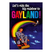 Let's Ride The Big Rainbow To Gayland! Postcard