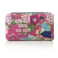 "Bev Ridge & Friends ""All The Gear No Idea"" Fabric Make Up Bag"