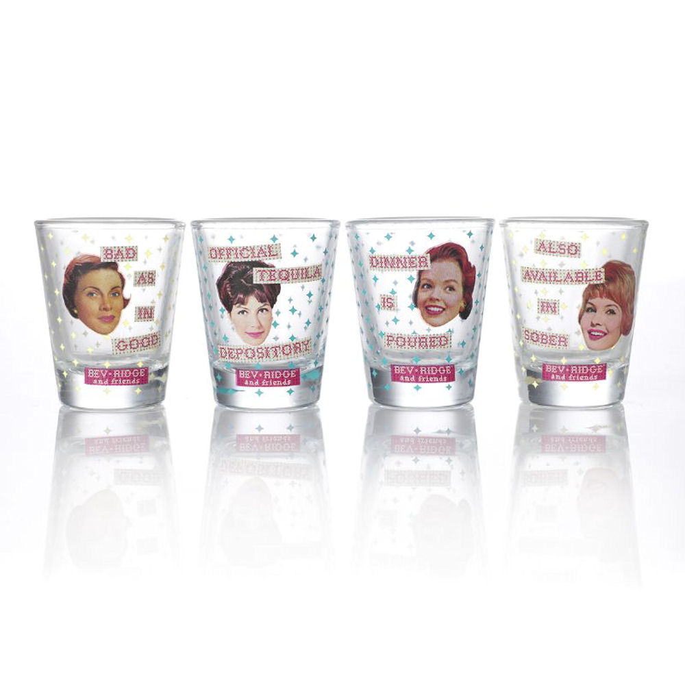 Bev Ridge & Friends Set of 4 Shot Glasses