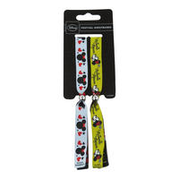 Minnie Mouse Pack of 2 Festival Wristbands