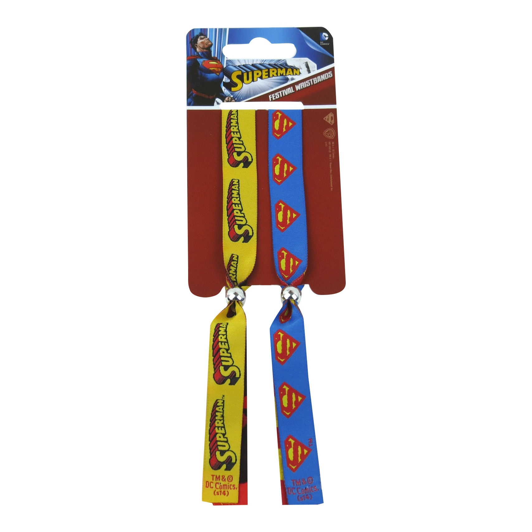 Superman Pack of 2 Festival Wristbands