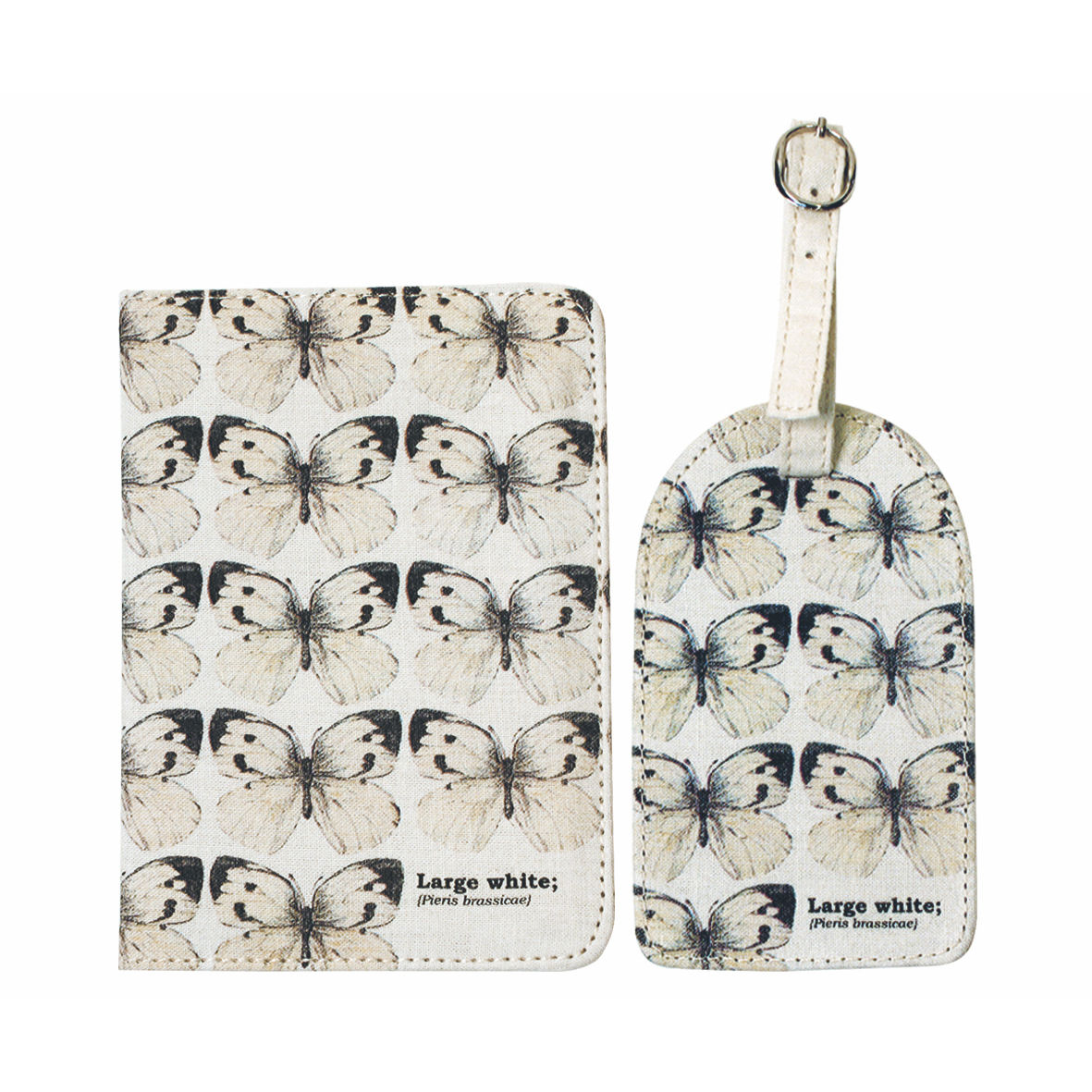 Ecologie Butterflies Passport Holder & Luggage Tag Set