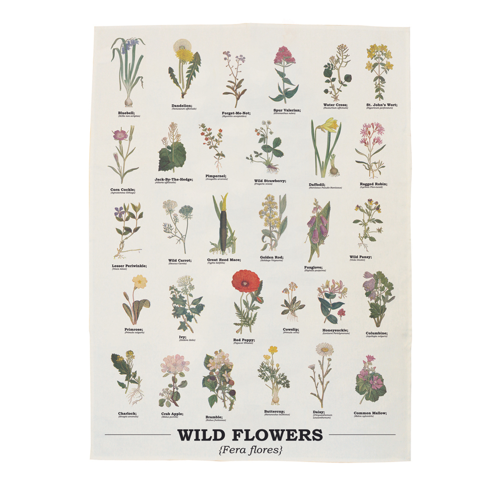 Ecologie Wild Flowers Tea Towel