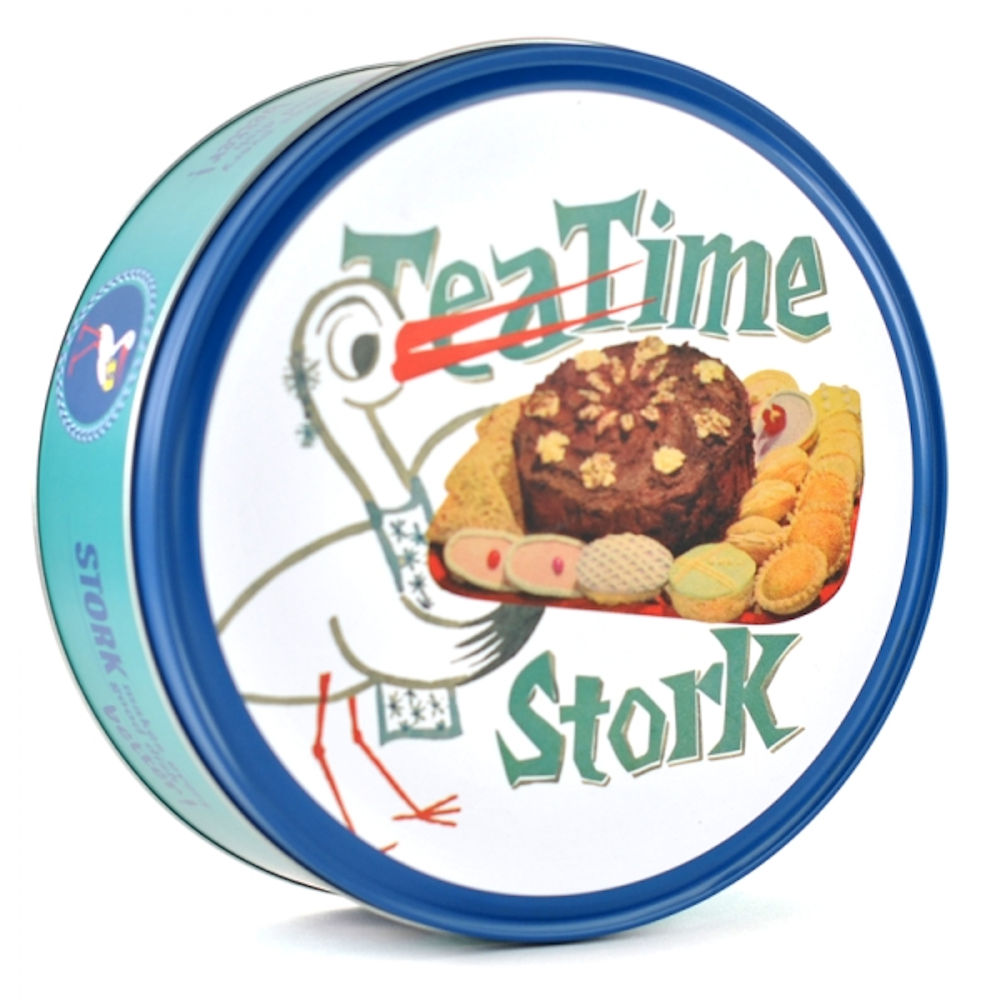 Stork Butter Round Storage Tin
