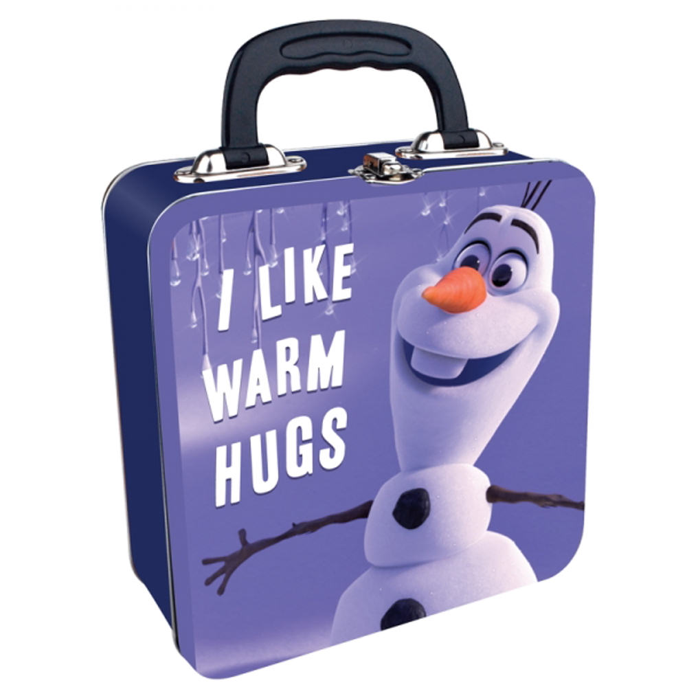 "Olaf ""I Like Warm Hugs"" Square Tin Tote"