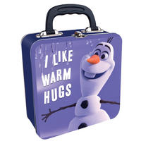 "Olaf ""I Like Warm Hugs"" Square Tin Tote Thumbnail 1"
