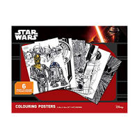 6 Star Wars Classic Colour & Frame Posters