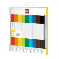Set of 9 Multicolour Lego Marker Pens