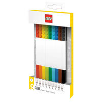 Set of 9 Multicolour Lego Gel Pens