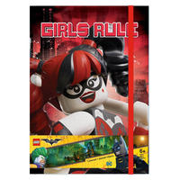 Lego Harley Quinn Girls Rule A5 Hardback Notebook