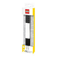Set of 2 Black Lego Gel Pens