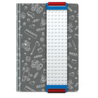 Grey Lego A5 Notebook With Building Band