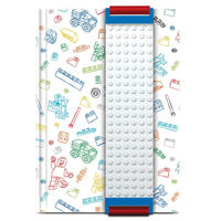 White Lego A5 Notebook With Building Band