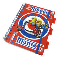 Minion Moped Mania A5 Hardback Notebook
