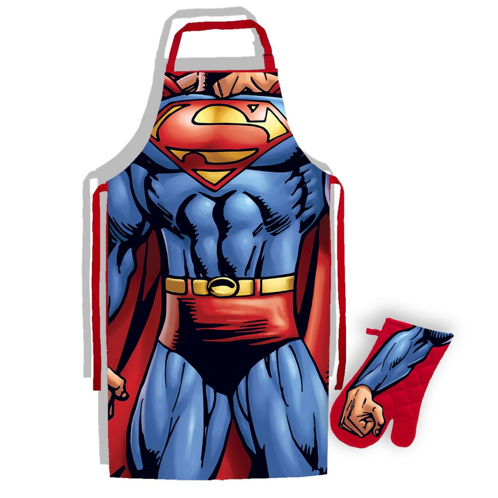 Superman Apron & Oven Glove Set