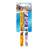 DC Super Hero Girls Crazy & Cool Pack of 2 Festival Wrist Bands Thumbnail 1