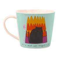"Thinking Cats ""A Small Cat Trapped In Jelly"" Porcelain Mug"