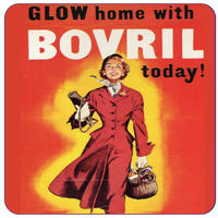 Go Home With A Bovril Glow Today! Single Coaster