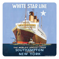 White Star Line Single Coaster