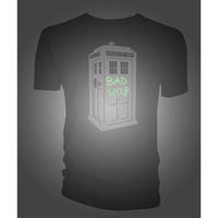 Doctor Who Glow in the Dark TARDIS T-shirt Thumbnail 2