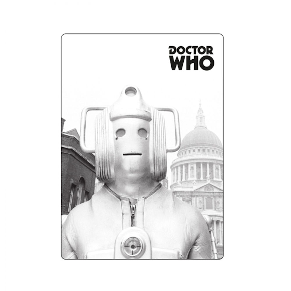 Greyscale Cyberman Fridge Magnet