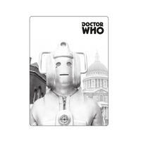 Greyscale Cyberman Fridge Magnet Thumbnail 1