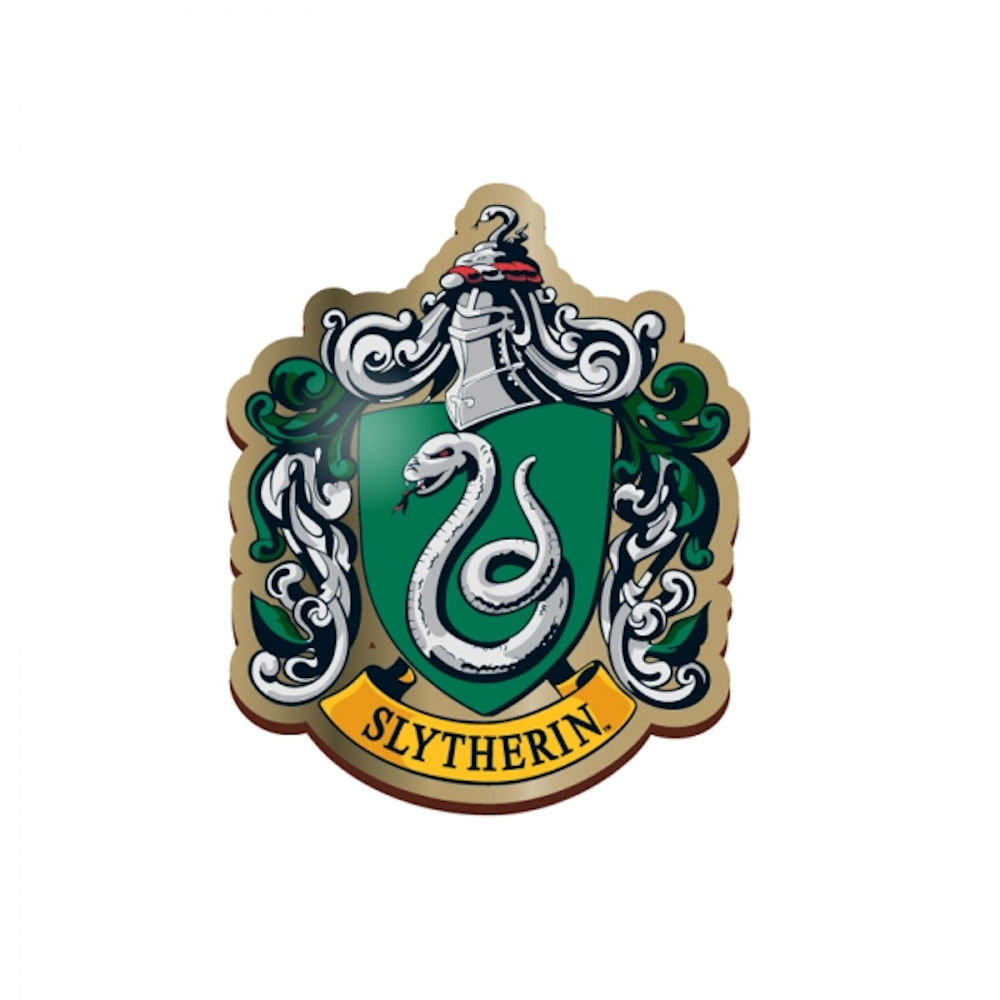 harry potter slytherin enamel pin badge button house crest