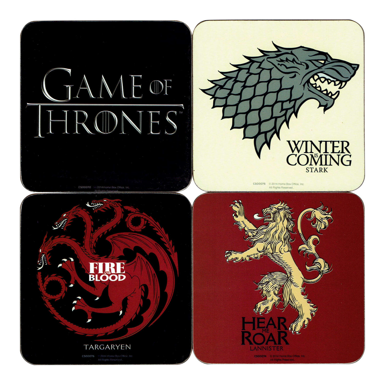 Game of Thrones Coaster Set (4 Coasters)