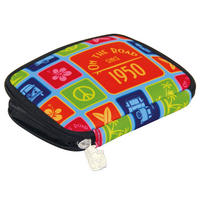 Multicolour VW Camper Van Zipped Neoprene Wallet