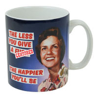 The Less You Give A F*** The Happier You'll Be Boxed Mug