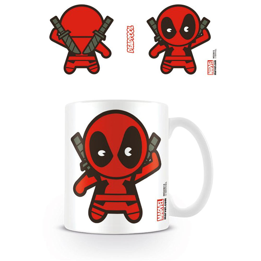 DEADPOOL KAWAII MUG CERAMIC CUP TEA COFFEE MARVEL CUTE ...