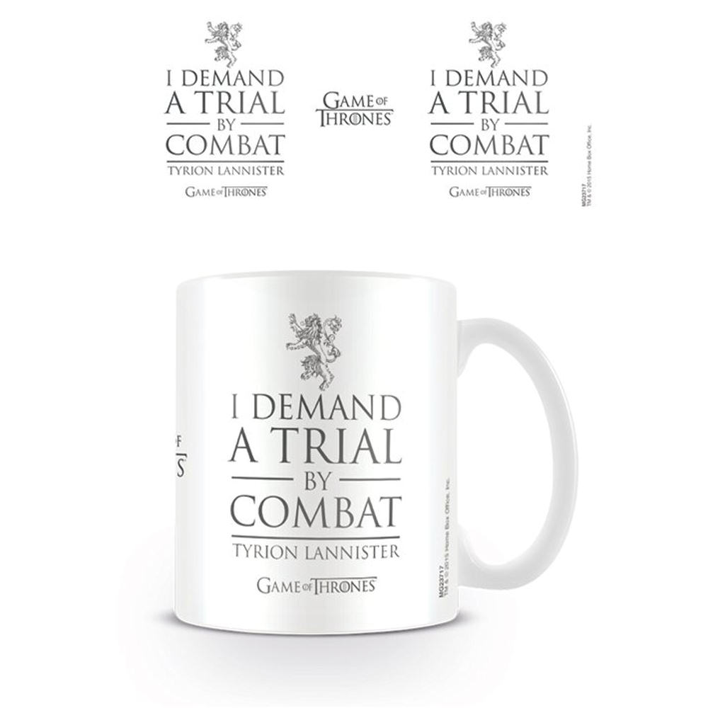 "Game Of Thrones ""I Demand A Trial By Combat - Tyrion Lannister"" Mug"