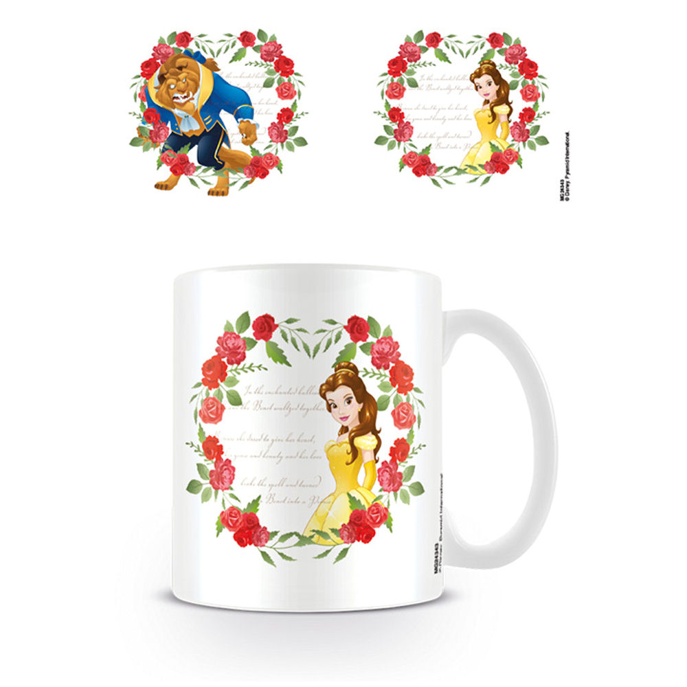Beauty & The Beast Roses Mug