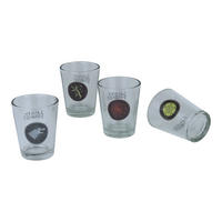 Set of 4 Game Of Thrones Shot Glasses Thumbnail 1