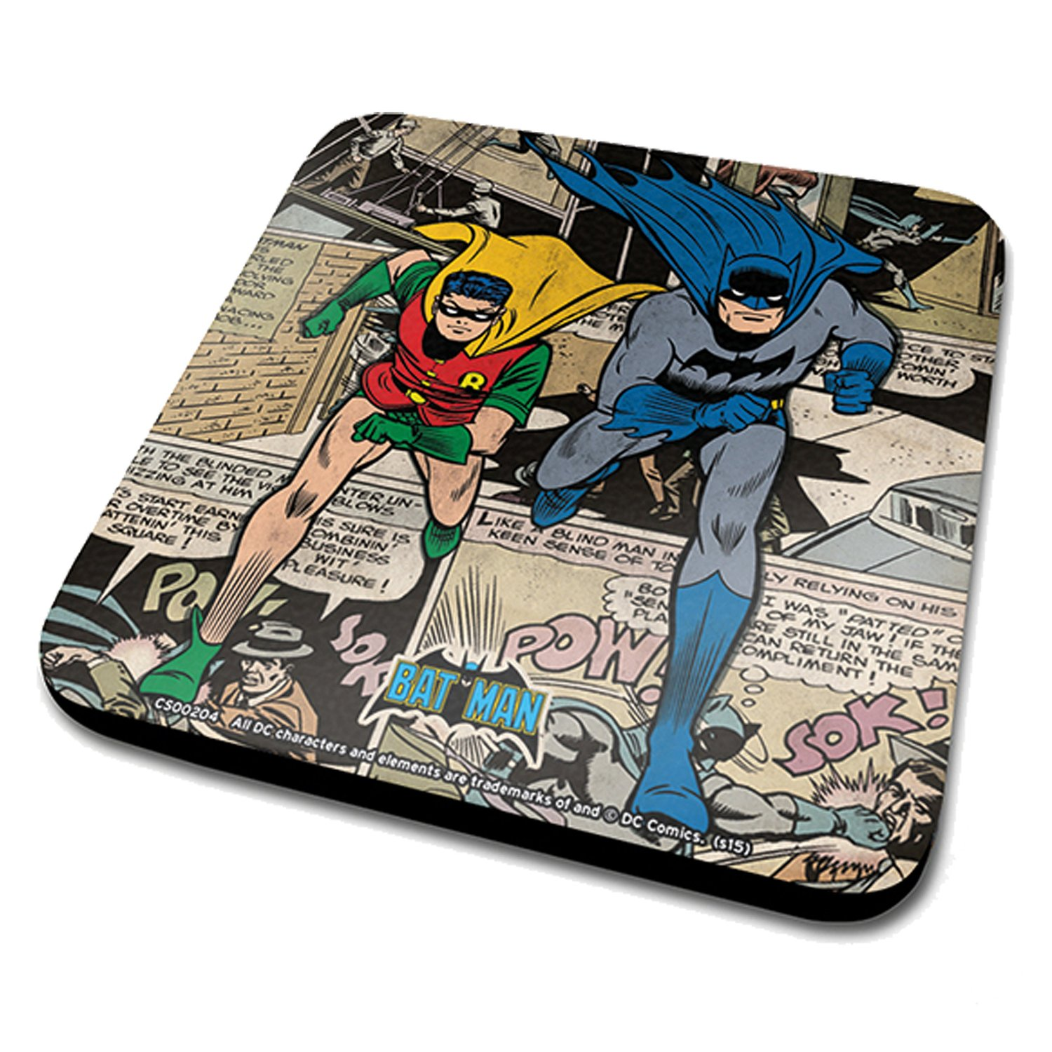 Batman & Robin Comic Montage Coaster