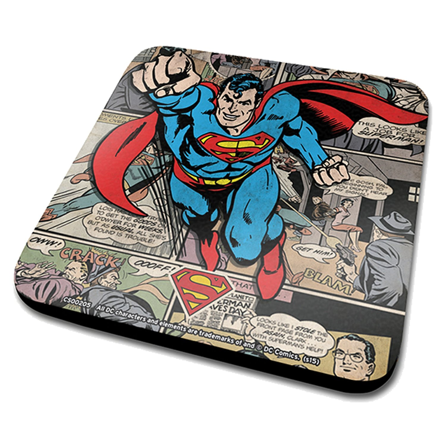 Superman Comic Montage Coaster