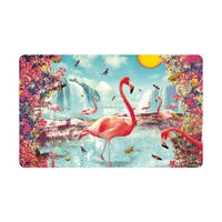 Max Hernn Flamingos & Butterflies Breakfast Cutting Board