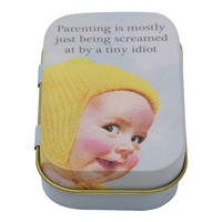 Parenting Is Mostly Just Being Screamed At By A Tiny Idiot Keepsake / Pill Tin