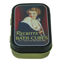 Reckitts Bath Cubes Keepsake / Pill Tin