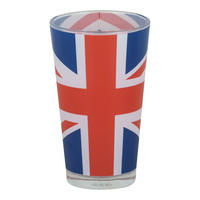 Union Jack Flag Large Glass