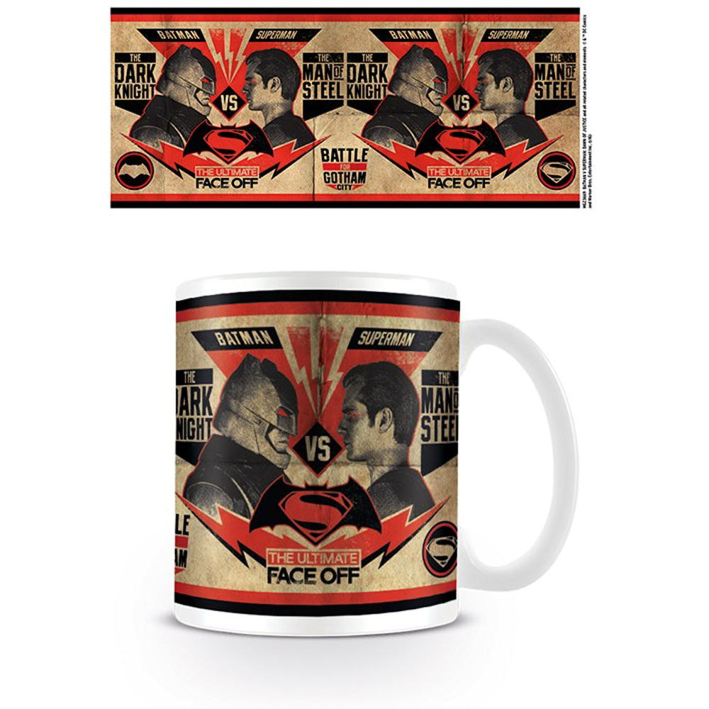 Batman Vs Superman Face Off Poster Mug